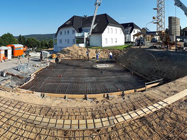Gewerbebau, Herrmann Bau in Mainleus bei Kulmbach, Oberfranken