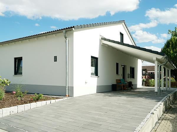 Schlüsselfertig Bauen, Carport, HH-Wohnbau GmbH, Industriestraße 17 in Mainleus bei Kulmbach, Nähe Bayreuth