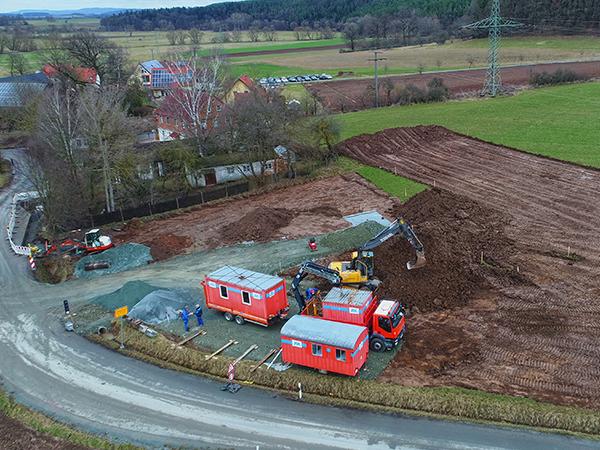 Tiefbau, Herrmann Bau, Industriestraße 17, Mainleus bei Kulmbach, Nähe Bayreuth